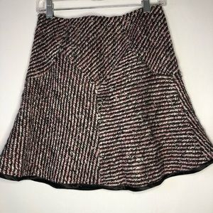 Rebecca Taylor Pink Tweed Skirt Size 2. Pink Black